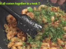 Indian Pasta Recipe - Chilli Capsicum Macaroni