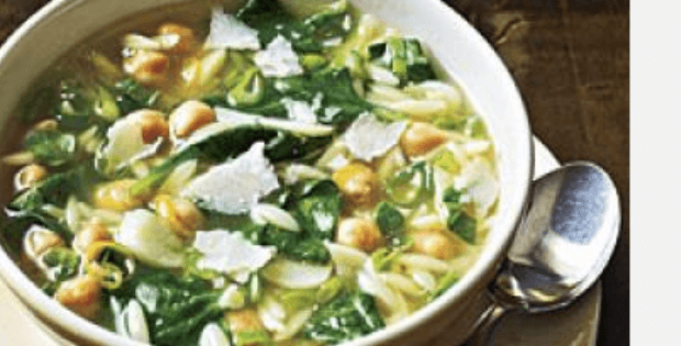spinach pea pasta soup