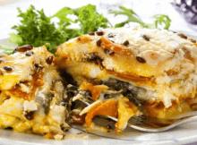 Vegetarian Butternut Squash Spinach Lasagna