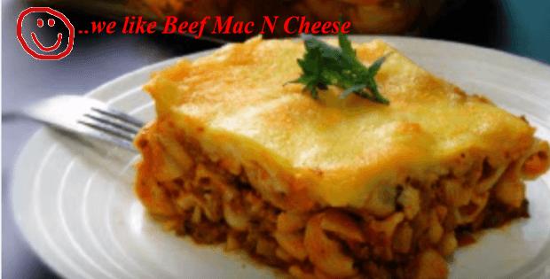 beef mac n cheese